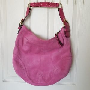 Coach Soho Suede Large Hobo in Orchid